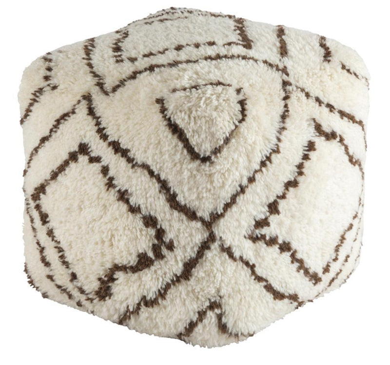 Dark Brown Pouf