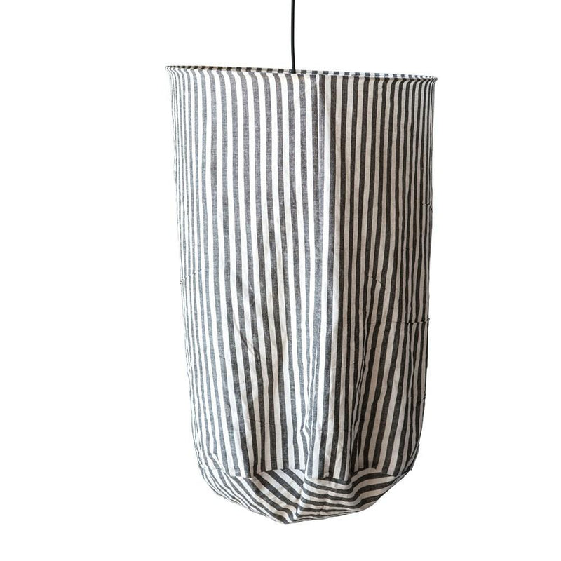 Black & White Stripe Pendant Lamp