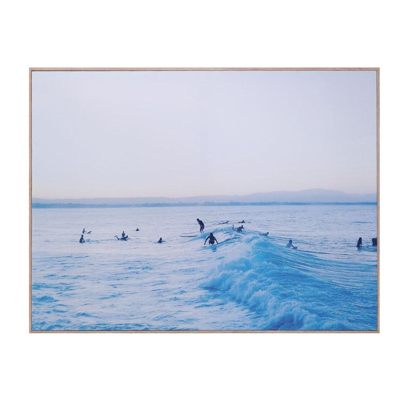 Surf Scene Framed Canvas Wall Decor