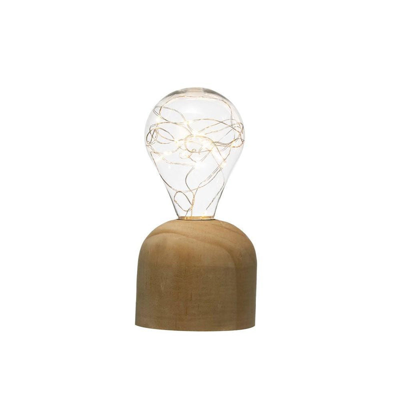 Plastic String Light Bulb with Wooden Base