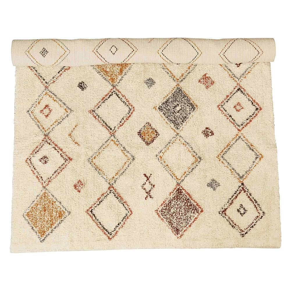 Multi-Color Diamond Patten Rug