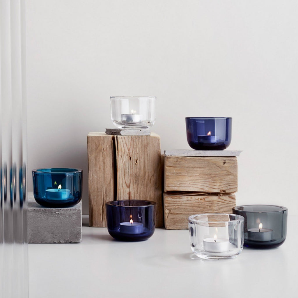Valkea Tealight Candle Holder in Various Colors design by Harri Koskinen for Iittala