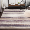 Cash Rug in Eggplant & Bright Blue