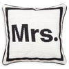 Mrs. Needlepoint Throw Pillow