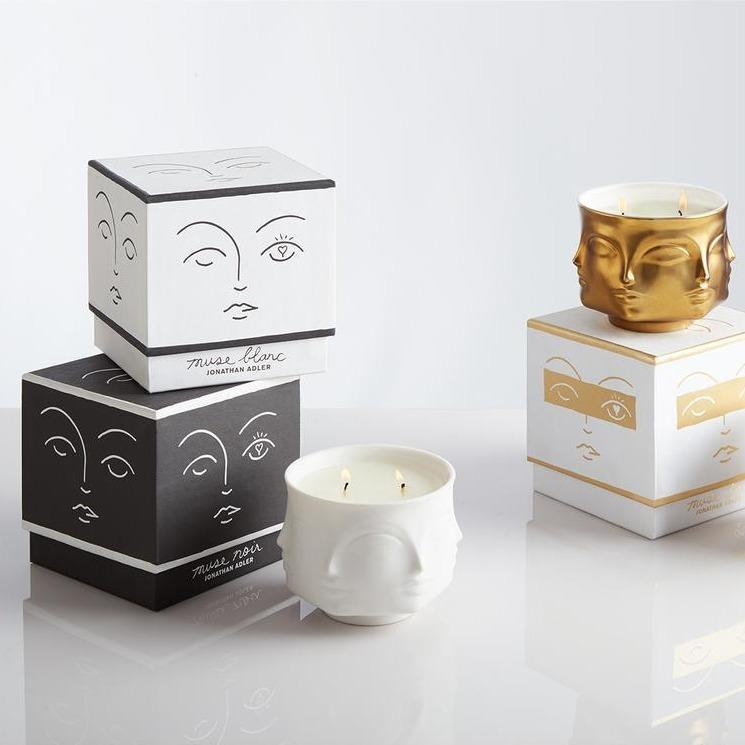 Muse Blanc Ceramic Candle