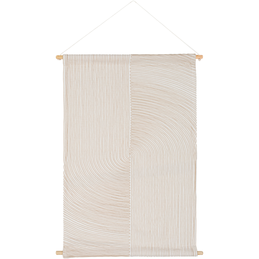 Pax Woven Wall Hanging in White & Cream