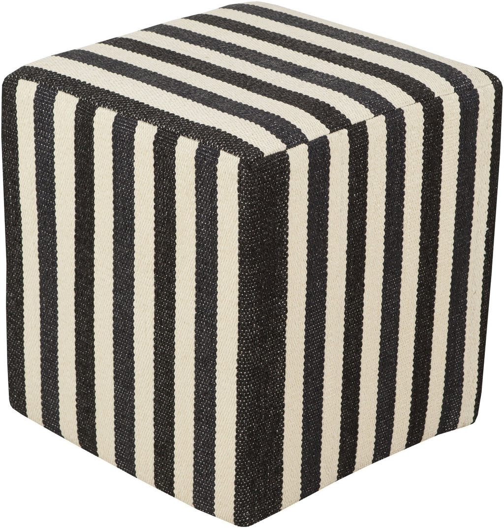 Picnic Pouf in Black & Cream design by Surya