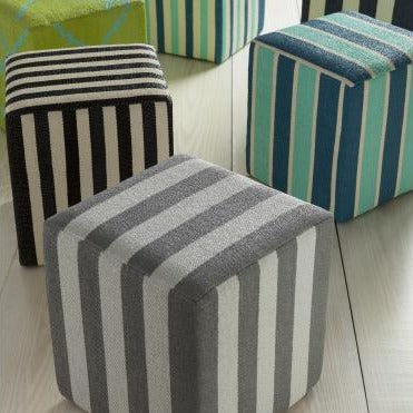 Picnic Pouf in Black & Cream