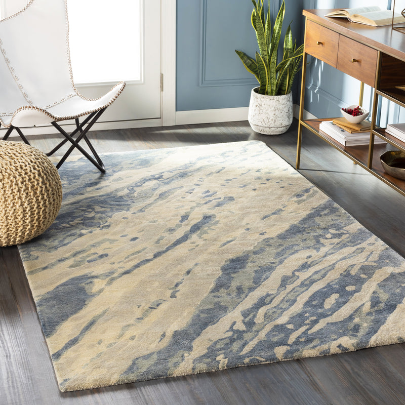 Pisces rug in Denim and Sage