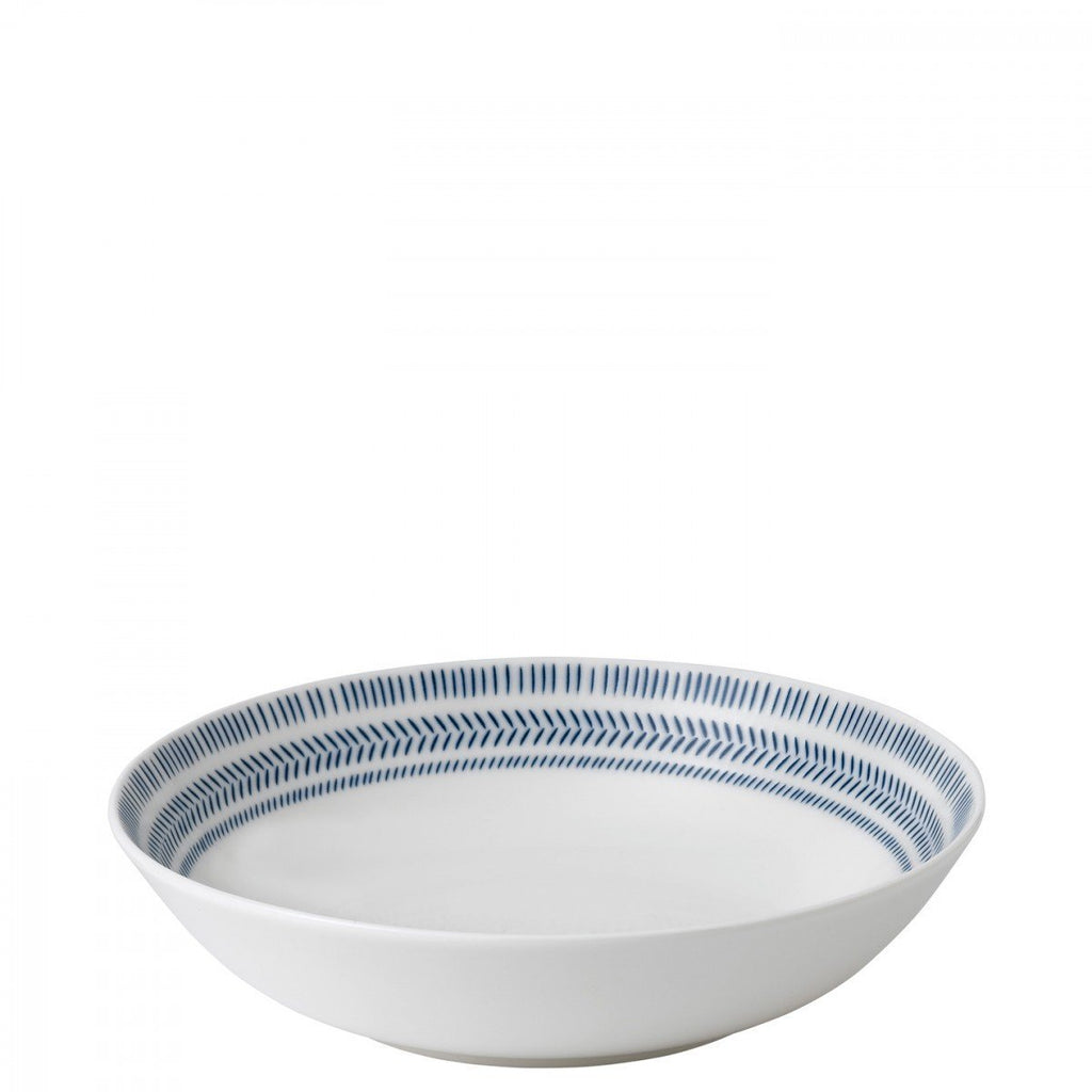 Cobalt Blue Chevron Pasta Bowl