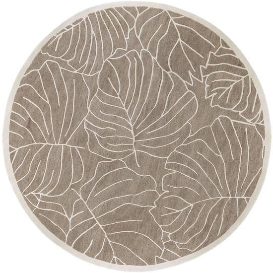 Studio Collection Wool Area Rug in Antique White and Mushroom