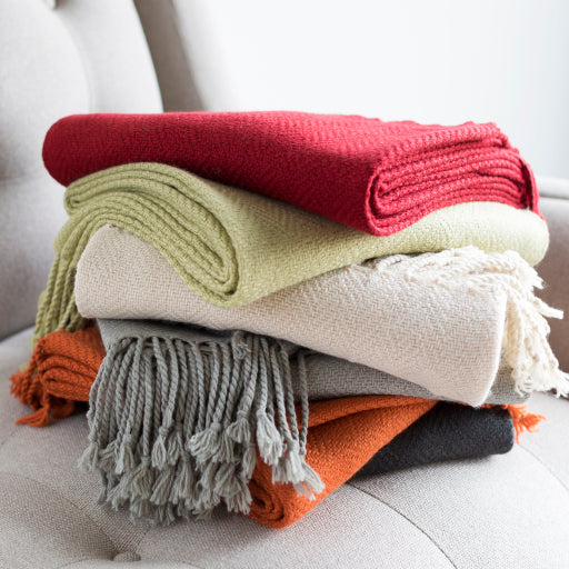 Turner Throw Blankets in Khaki Color