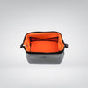 Wired Pouch - Small - Light Gray & Orange