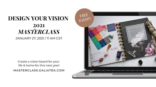 Design a Vision 2021 Masterclass: Create a Vision Board for your Home & Life.
