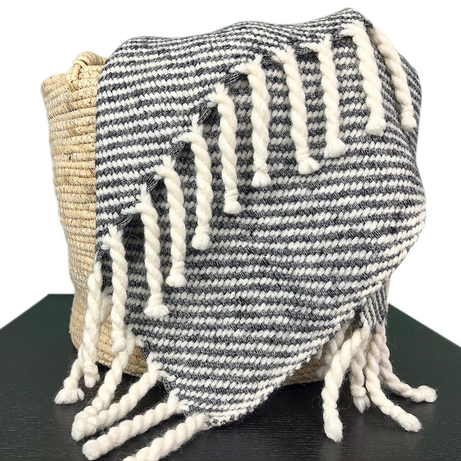 Chunky Black Stripe Alpaca Throw [LIMITED EDITION]