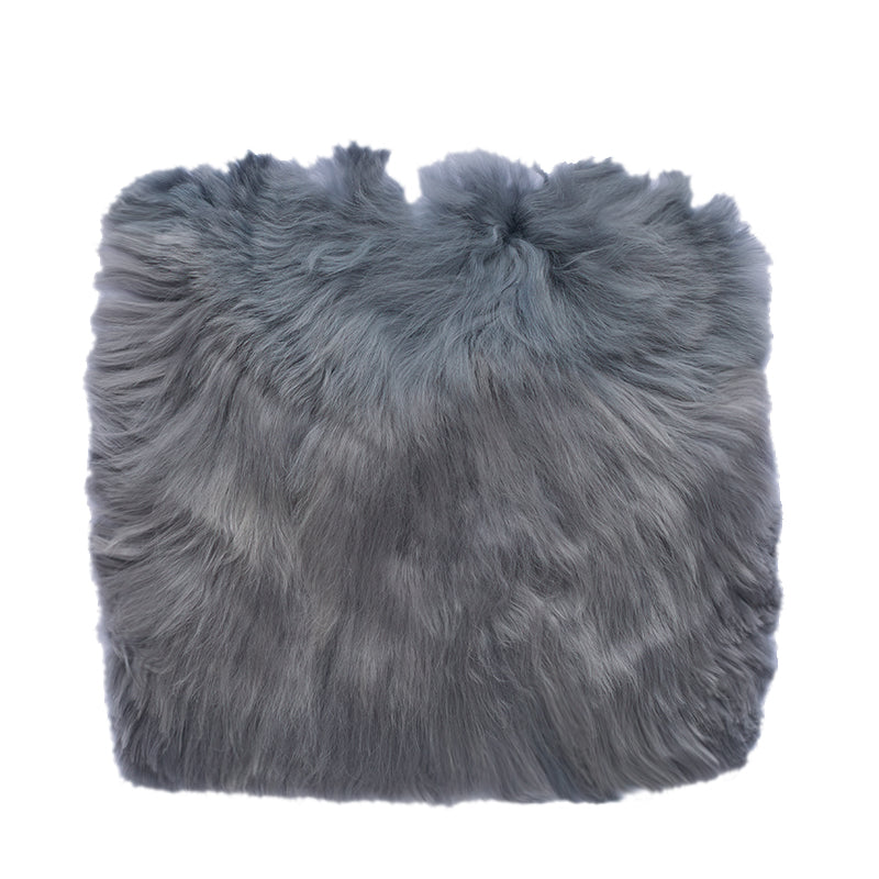 grey alpaca fur