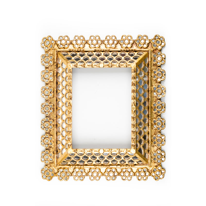 Gold Colonial Mirror