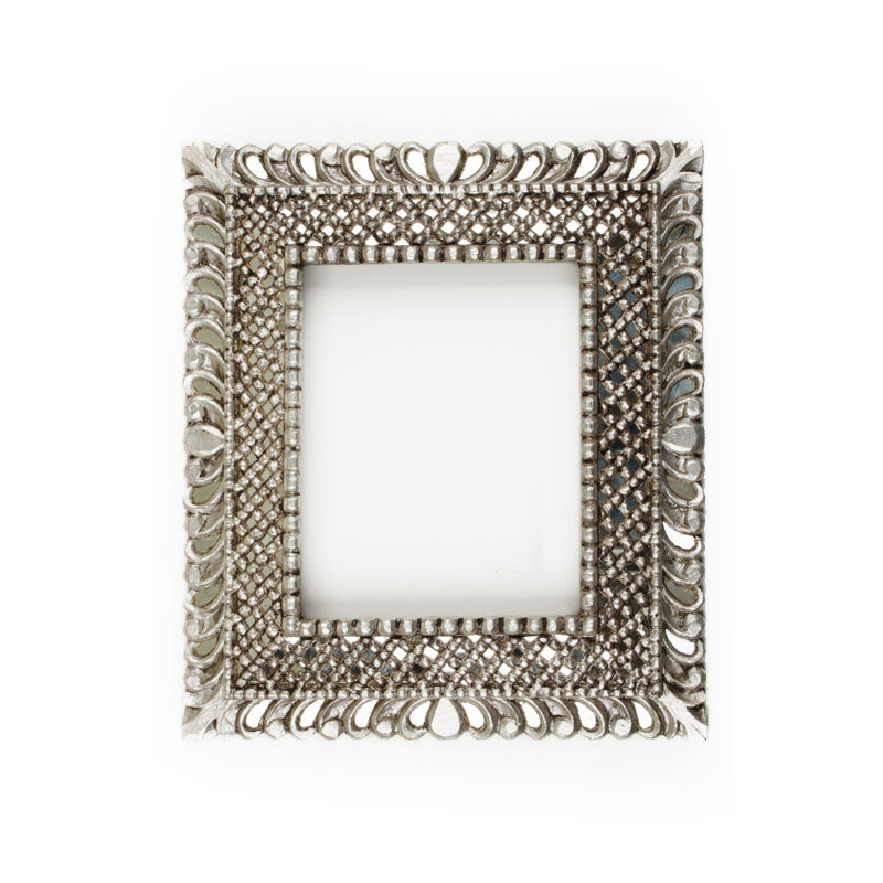Silver Leaf Colonial Mirror