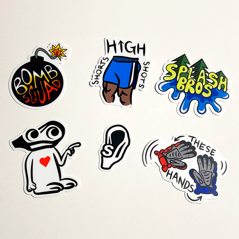 Assorted Sticker Set (6 Pack)