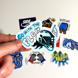 Go with the Flow - Tilt - Sticker