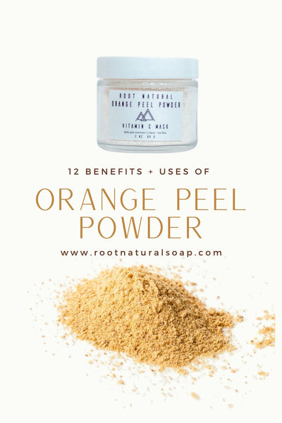 12 BENEFITS + USES OF  VITAMIN C MASKS WITH ORANGE PEEL POWDER