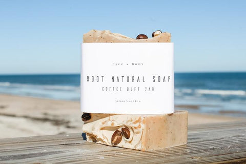 root natural soap coffee scrub bar for cellulite
