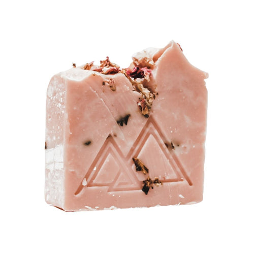 rose quartz soap rose clay