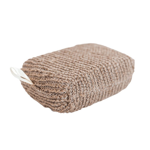 hemp exfoliating zero waste bath pouf cloth sponge