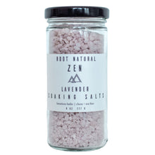 Load image into Gallery viewer, Lavender Zen Soaking Salts Root Natural Soap
