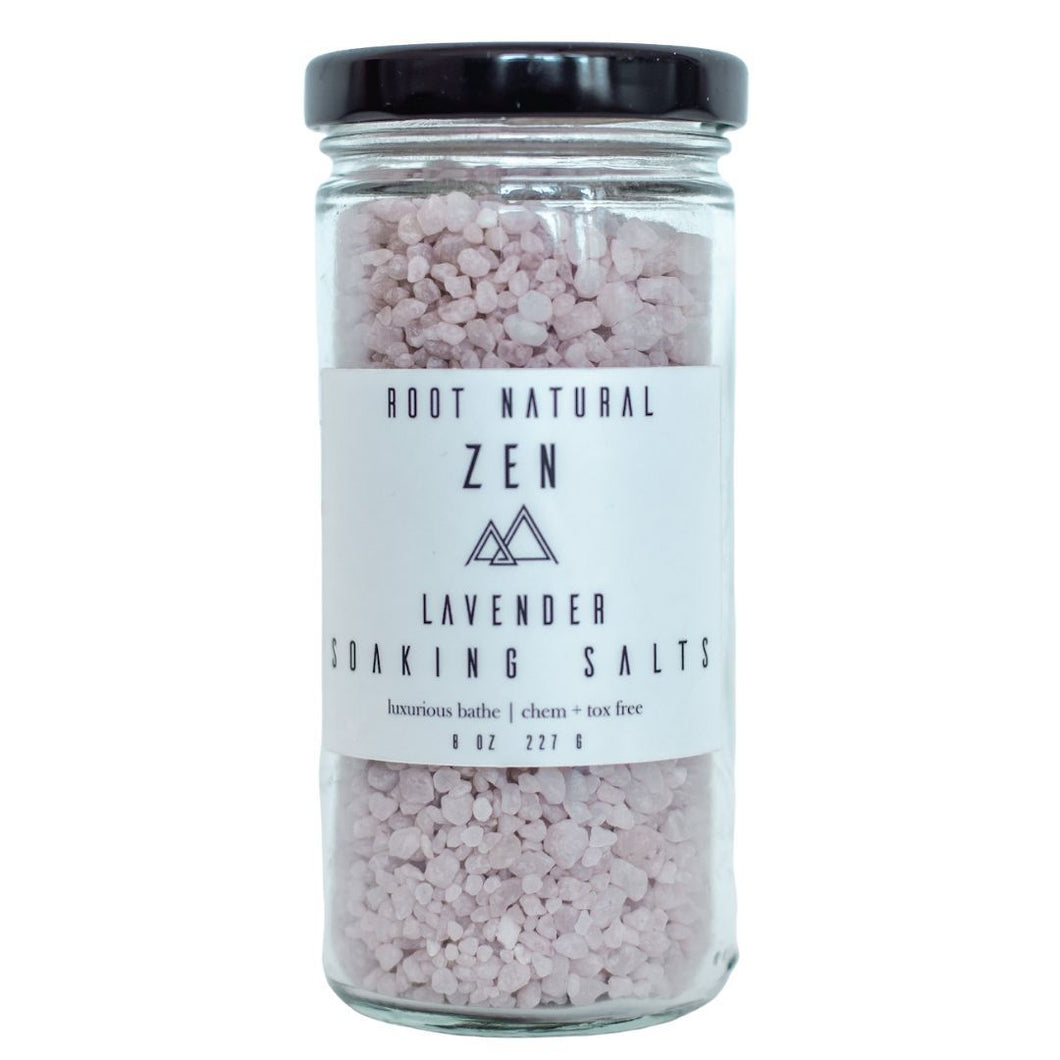Lavender Zen Soaking Salts Root Natural Soap