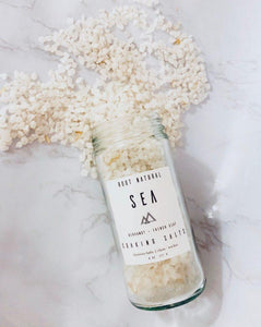 Root Natural Soap Sea Soaking Salts with Bergamot 8 oz bottle