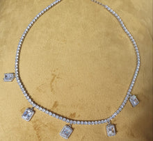 Load image into Gallery viewer, Square Tennis Necklace