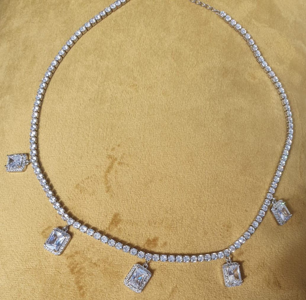 Square Tennis Necklace