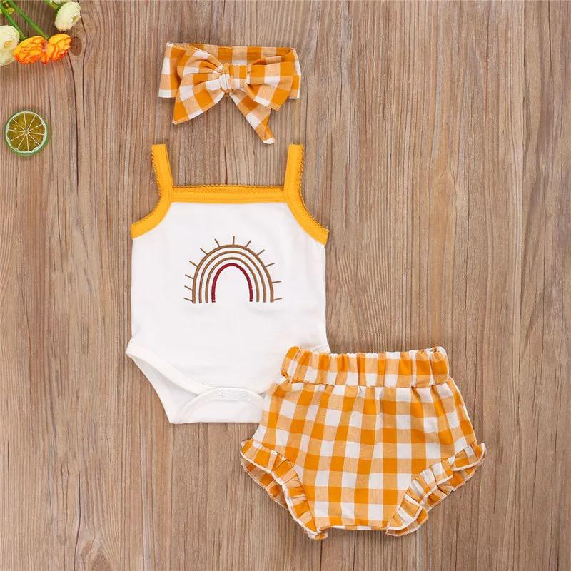 Yellow Rainbow Romper