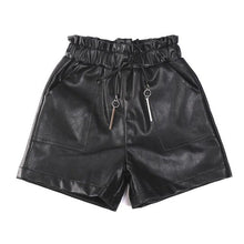 Load image into Gallery viewer, 2019 Spring Autumn Baby girl PU leather shorts Kids baby elastic waist shorts faux leather children's casual girl clothing Y183