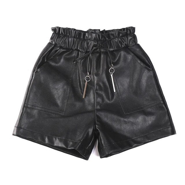 2019 Spring Autumn Baby girl PU leather shorts Kids baby elastic waist shorts faux leather children's casual girl clothing Y183