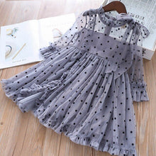Load image into Gallery viewer, Summer Toddler Girls Lace Dot Dress spring and fall Kids infant Bow Mesh Wedding Dresses Children Clothing For Baby Girls 1-6 Y