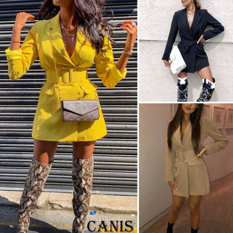 Women  Casual Blazer Jacket  Long Sleeve for Mini Dress