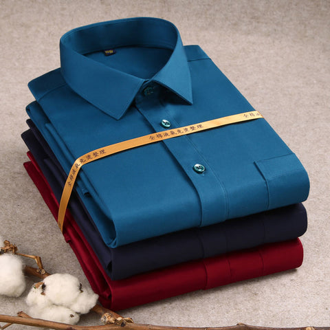 Luxury 100% Cotton Formal Long Sleeve Men's Dress Shirt
