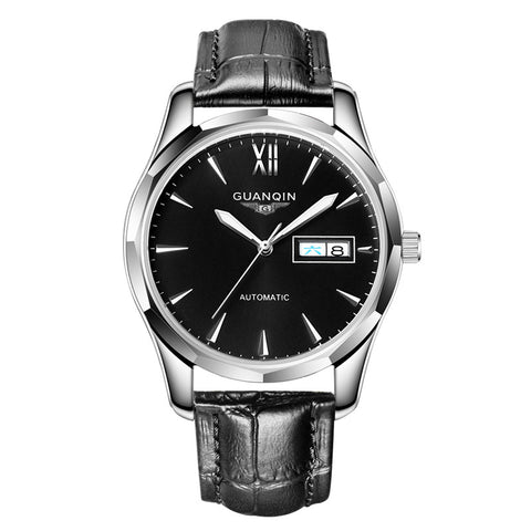 GUANQIN Automatic Mechanical Men Watch Tungsten Steel