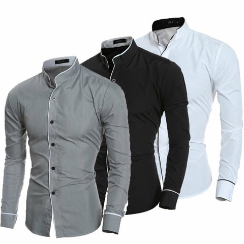 2020 Men's Luxury Casual Formal Shirt Long Sleeve