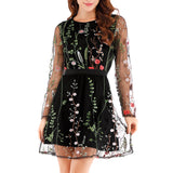 Dress For Women   Sexy Women Embroidery   Long Sleeve
