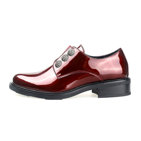 Women Brand Patent leather Loafers Dress Shoes