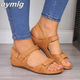 2020 New Women Sandals Soft Three Color Stitching