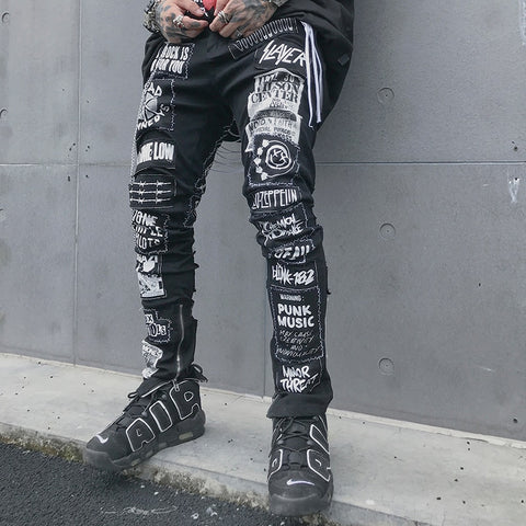 Men's Casual Black Jeans 2020 Men Hip Hop