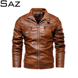 Saz Mens Leather Jackets New Casual
