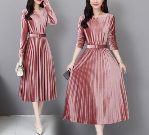 Fengguilai Autumn Winter Vintage Midi Dresses