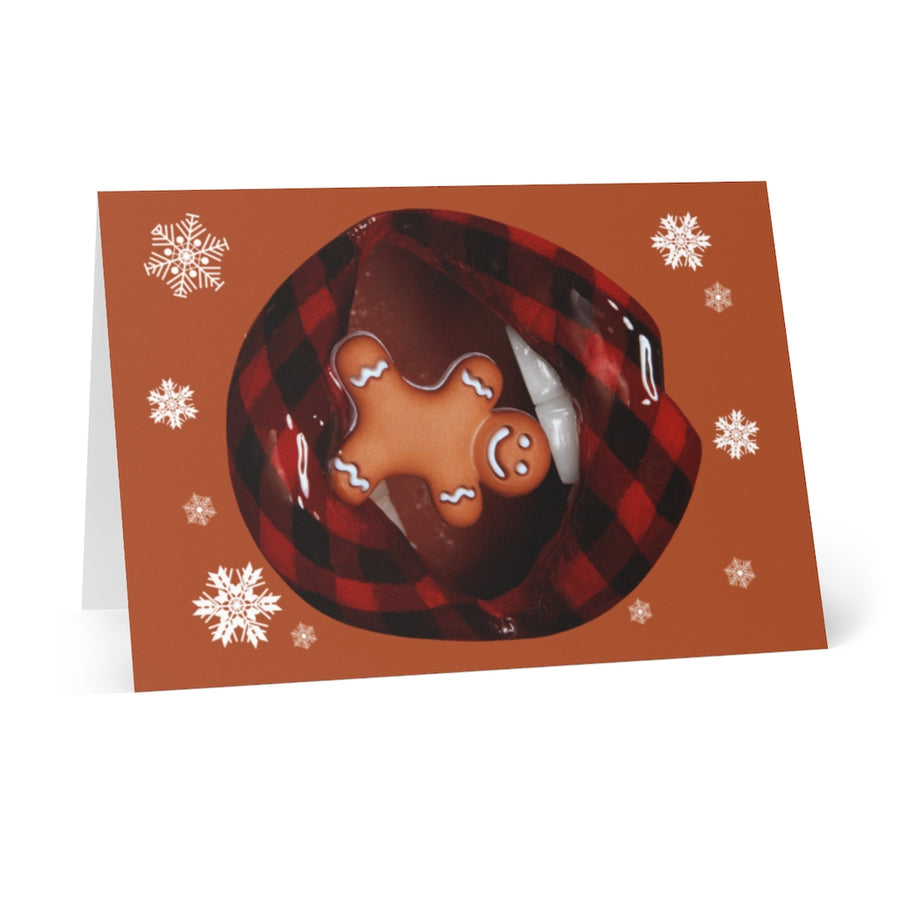 Gingerbread Person Greeting Cards (8 pcs)