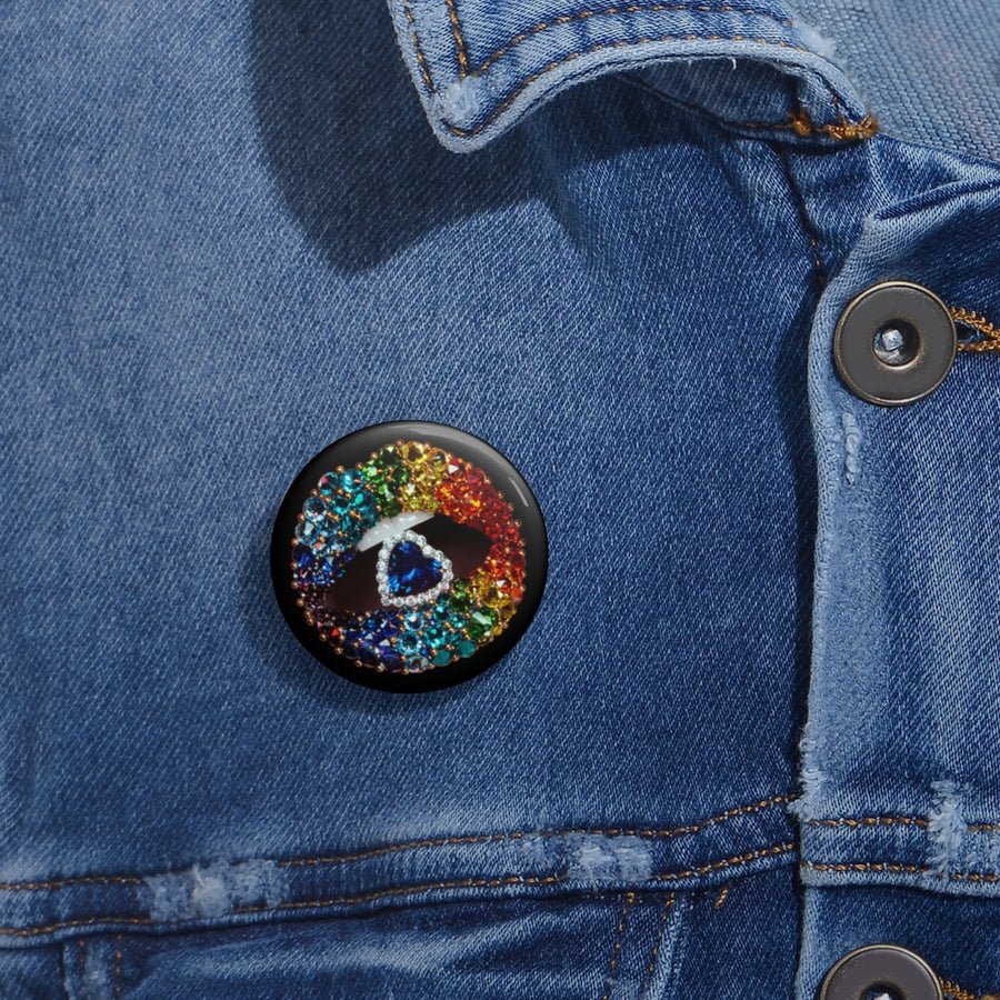 Love is Love Black Pin Button