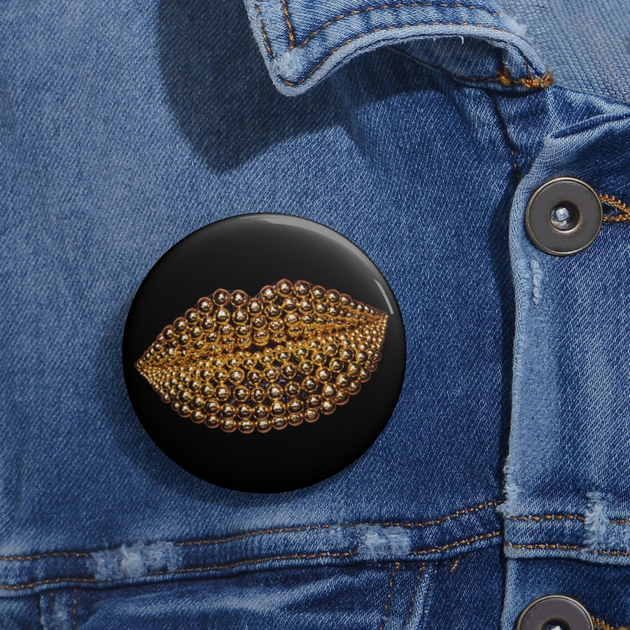 Beads Black Pin Button